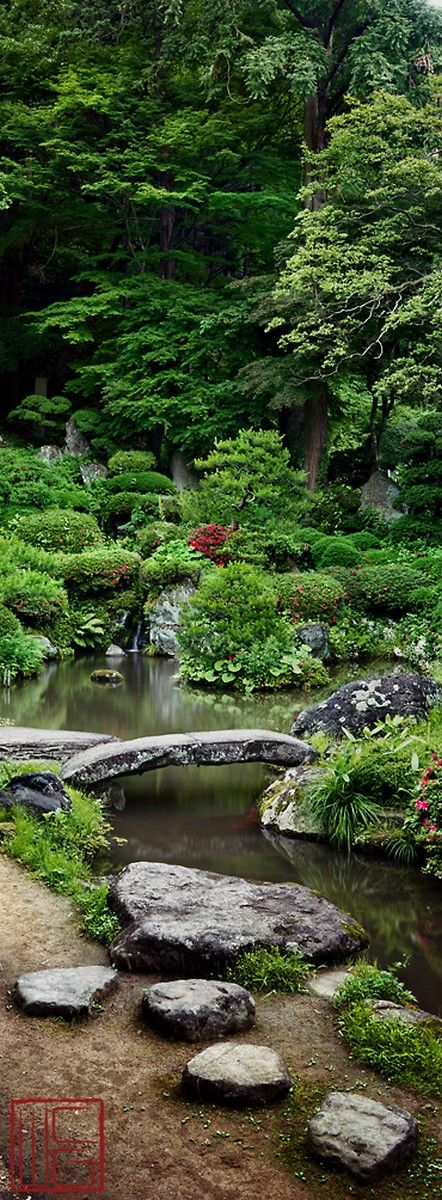 iwanami kannonthe gardens of yamagata japan the whole thing is delicious but especially the stone bridge