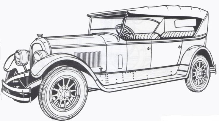 1924 Marmon Classic Old Car Coloring Pages For The Top Rated Adult