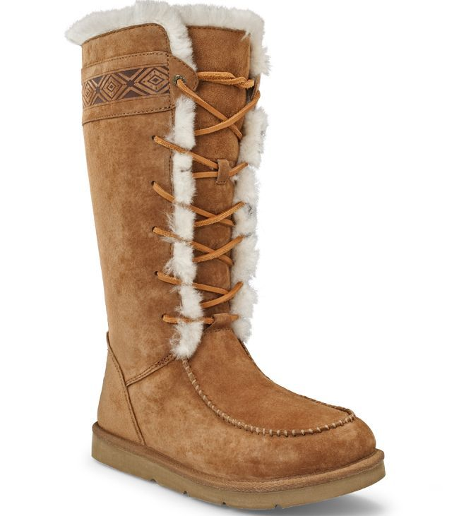 8075acbb945 Ugg Boots Womens Tularosa Chestnut Lace Up | W A L K | Sheepskin ...