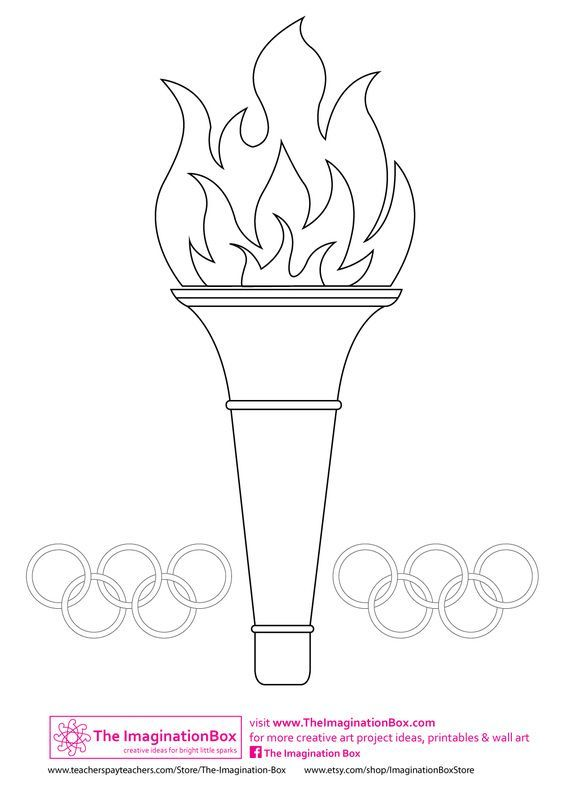 Olympic Torch Template Can Decorate With Tissue Paper