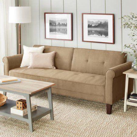 10 Spring Street Ashton Microfiber Sofa Bed, Beige