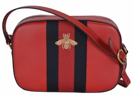 50d65657dcf Gucci New Women s 412008 Red Leather Web Bee Red Blue Cross Body Bag. Get  the trendiest Cross Body Bag of the season! The Gucci New Women s 412008 Red  ...