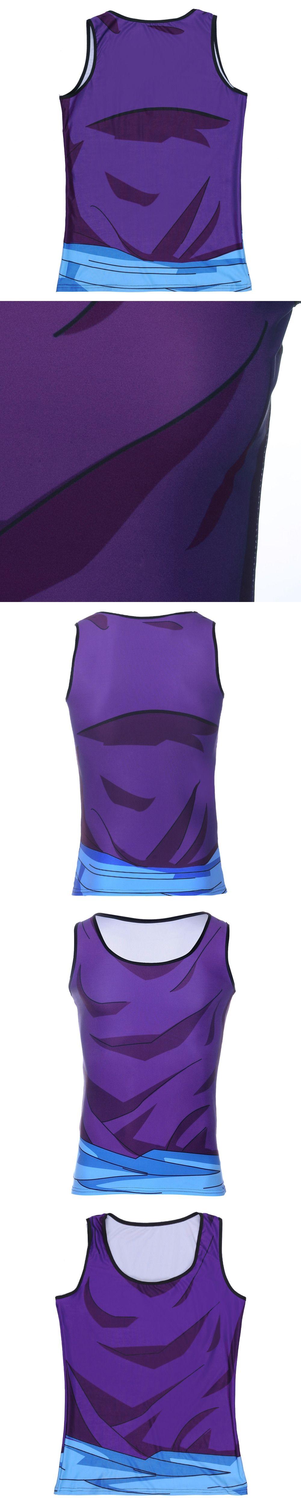 178c7b27ee2c1 Mens Brand Saiyan Goku Dragon Ball Vest O-Neck High New Hot Fitness Tank  Tops