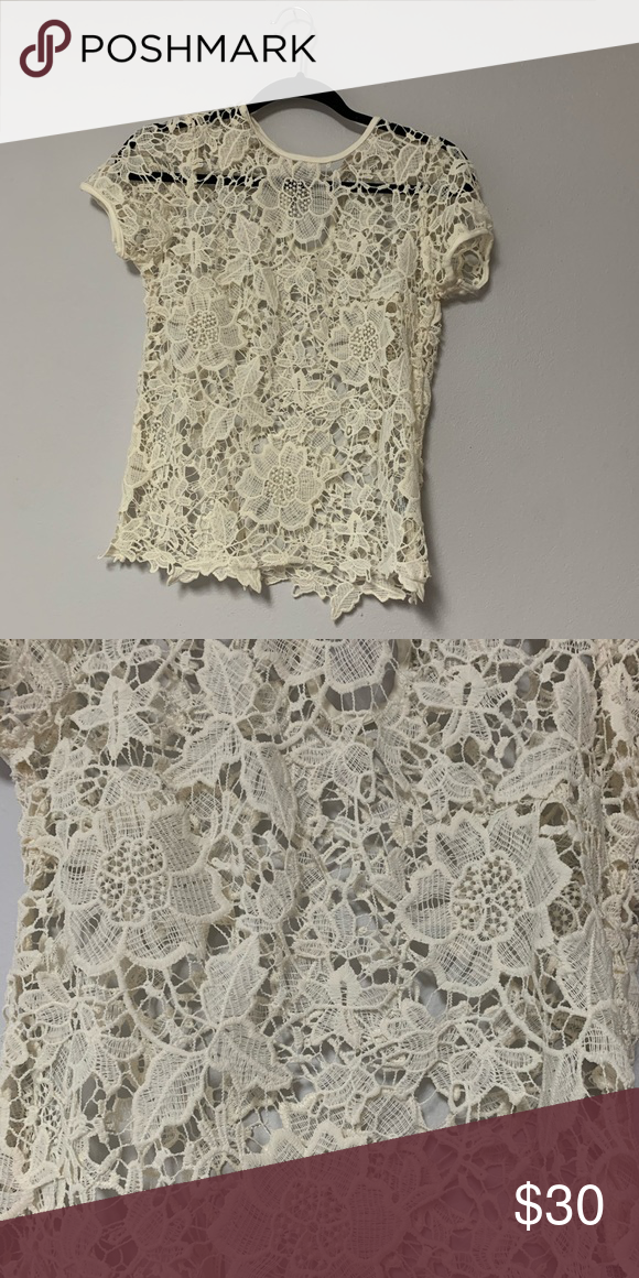 Photo of Lace top Very beautiful lace top with flowers and leaf desig…