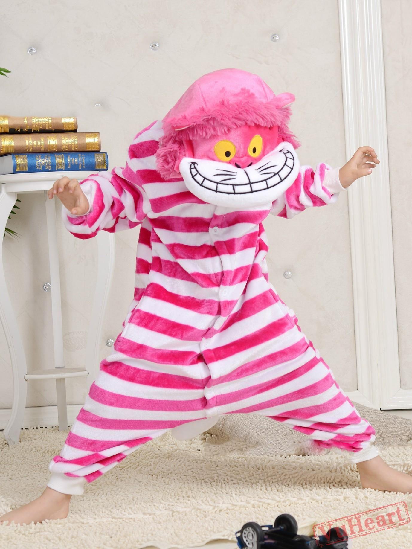 f77056622 Cartoon Pink Cheshire Cat Kigurumi Onesies Pajamas Costumes for Boys &  Girls Winter