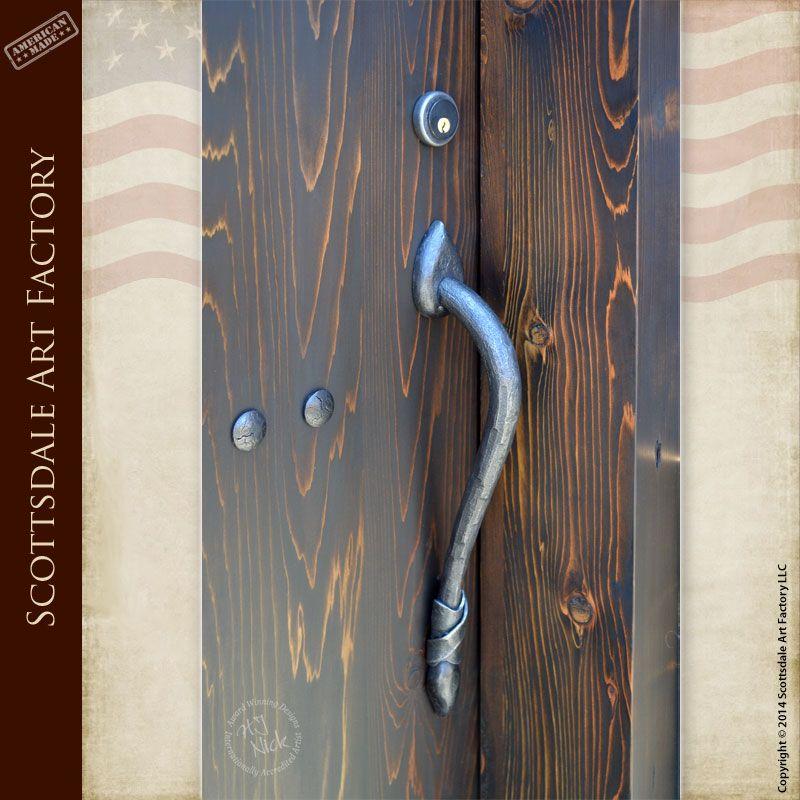 Wrought Iron Castle Door Pulls - - Iron door handles custom designed from old castle doors - handcrafted door handles from solid patina finished wrought ... & Wrought Iron Castle Door Pulls - HH421 - Iron door handles custom ... pezcame.com