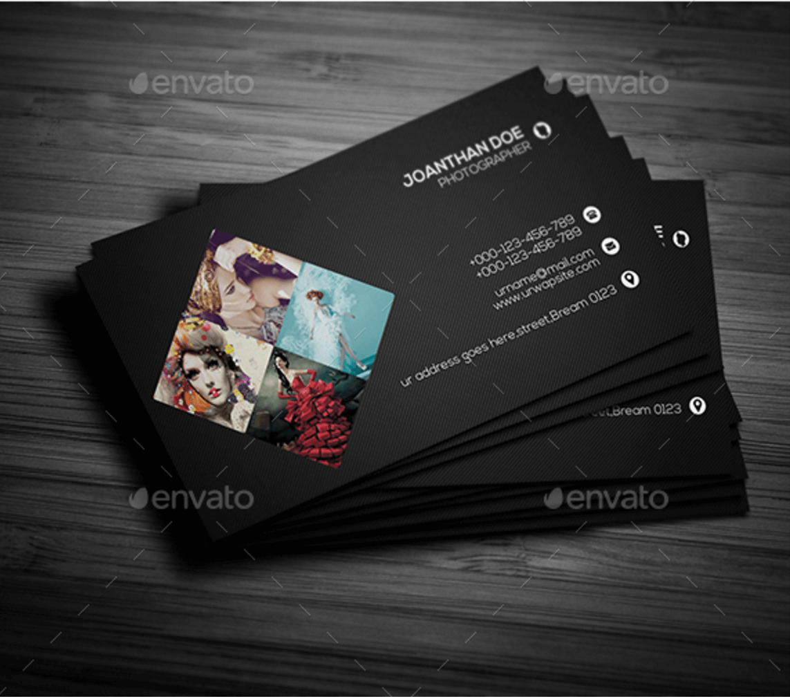PersonalPhotographyBusinessCardGraphicRiverpng - Photography business card templates