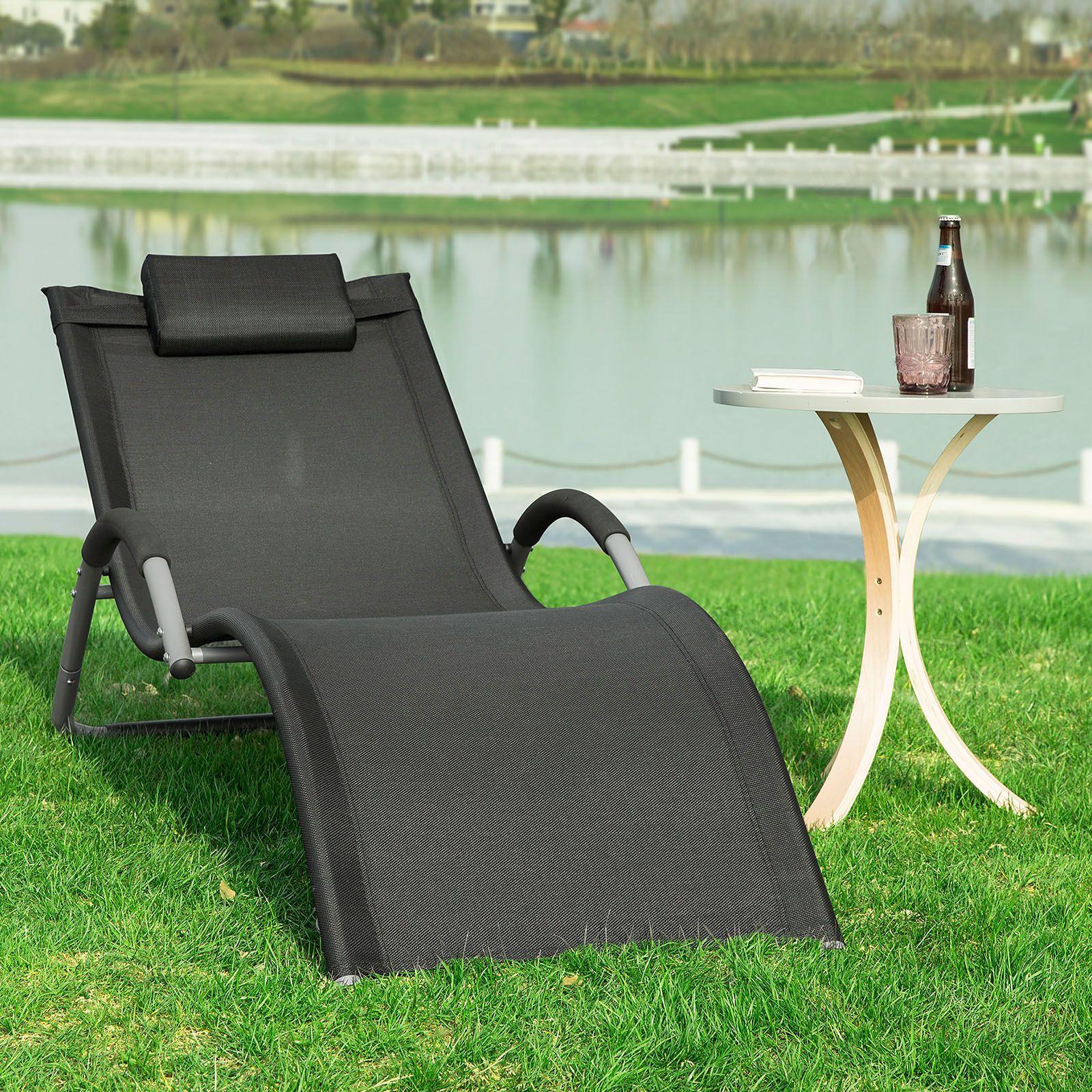 SUN BED LETTINO POLTRONA RECLINABILE IN ALLUMINIO SEDIA Outdoor Deck Patio Giardino Spiaggia