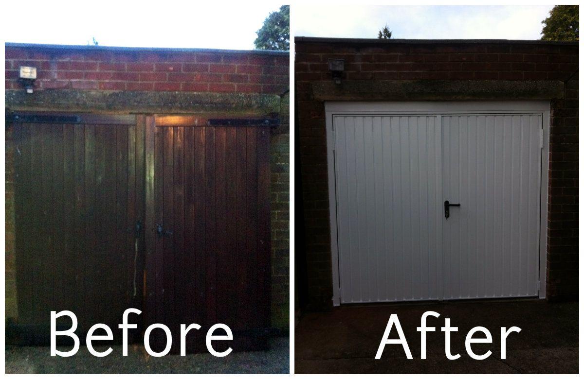 Before And After Side Hinged Doors Banbury By Cherwell Doors & Banbury Garage Doors Image collections - door design for home