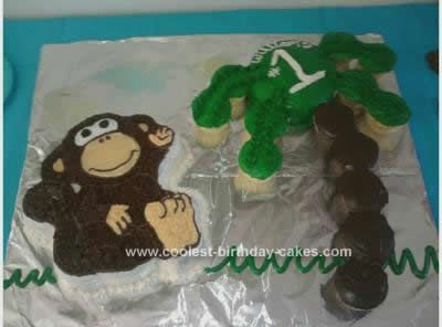 Cool Homemade Monkey 1st Birthday Cake Idea Birthday cakes Monkey