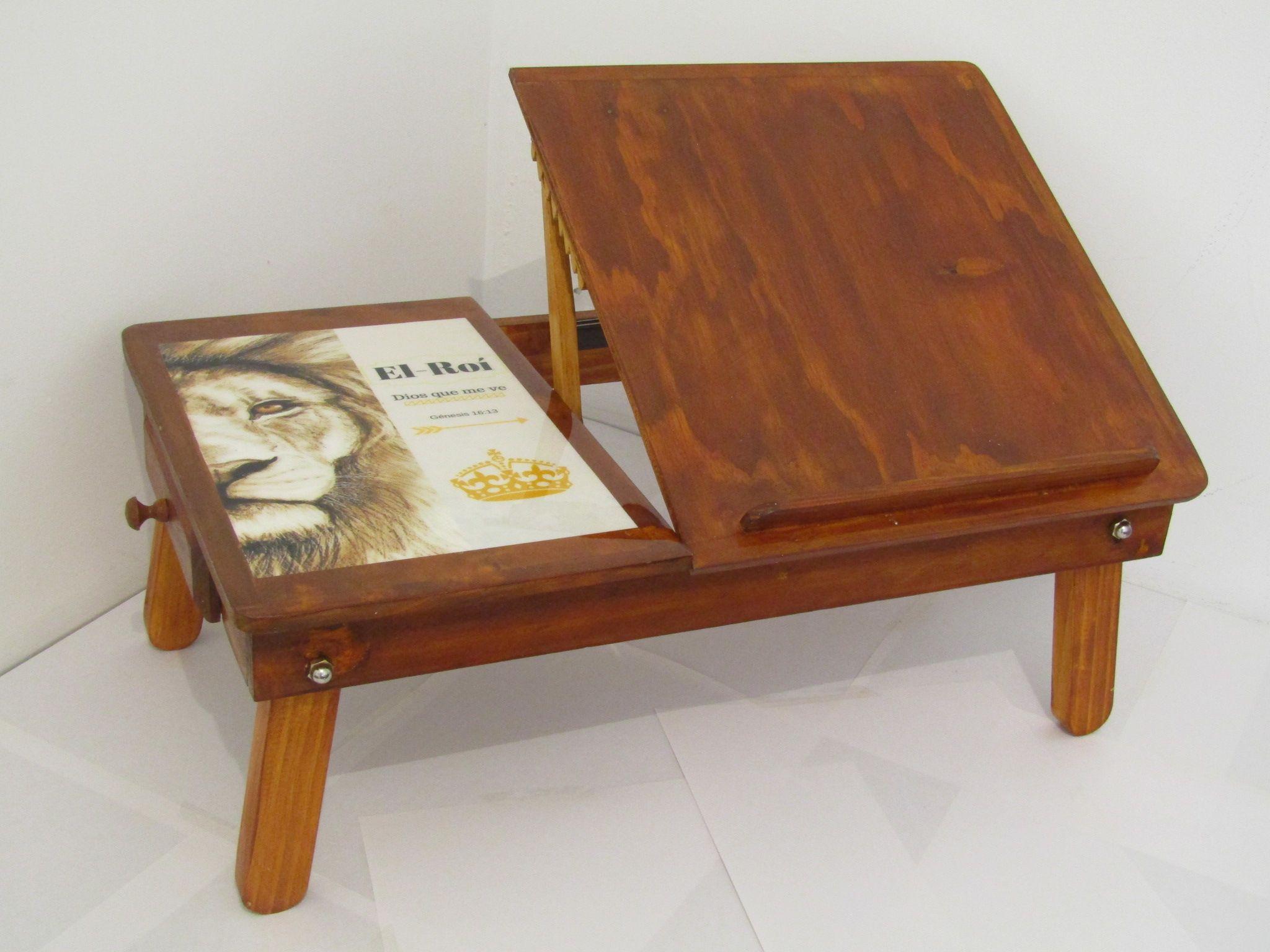 Mesa en madera para hacer el devocional en la comodidad de la cama o ...