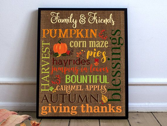 Thanksgiving wall art, thanksgiving, etsy shopping, etsy party decor ...