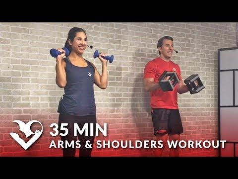50 Min Full Body Workout with Dumbbells - HASfit - Free Full Length Workout Videos and Fitness Programs
