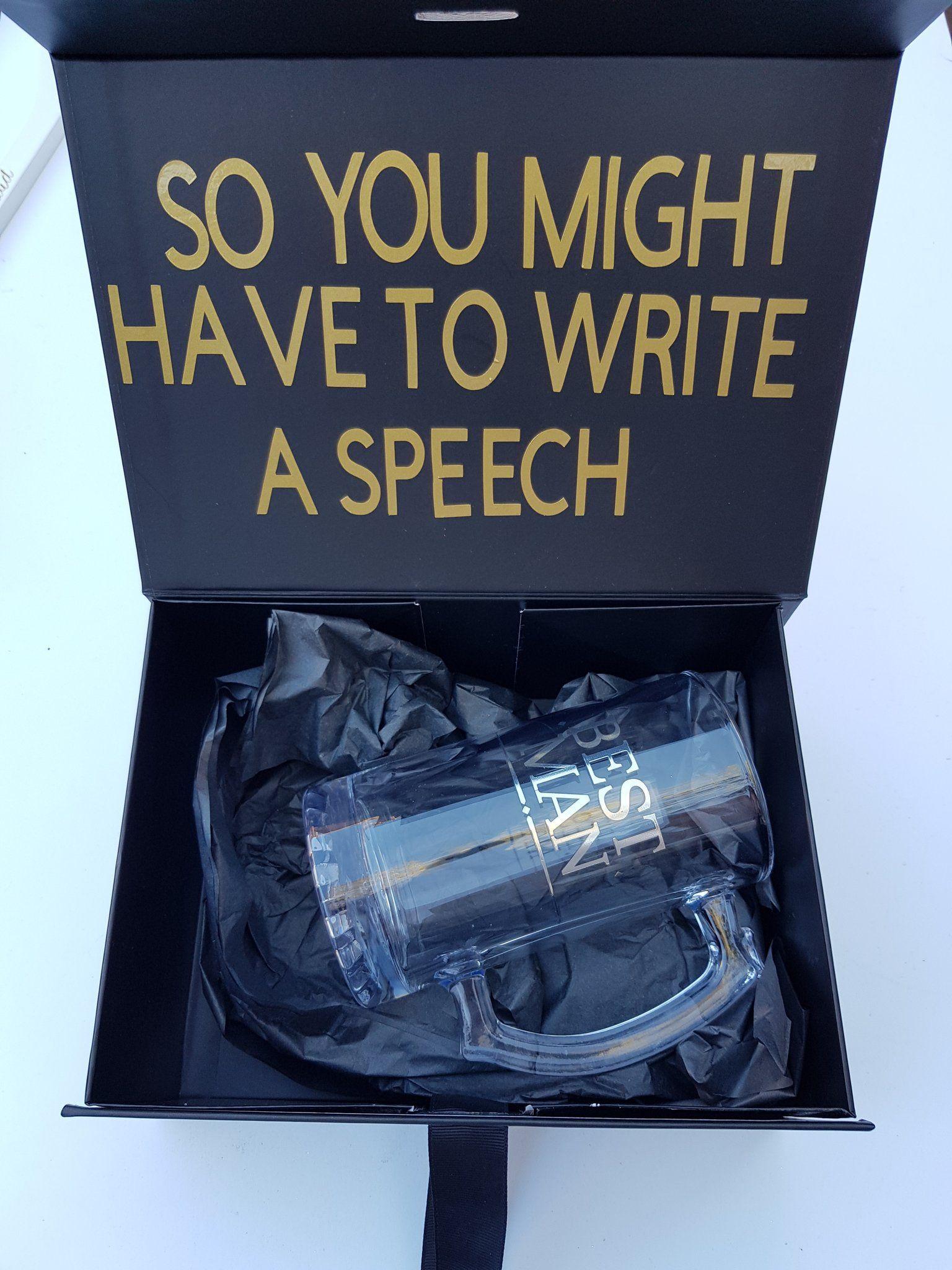 Black personalised gift box for birthday groomsman