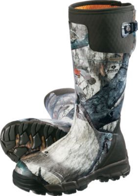 148bda7d7db4c LaCrosse Alphaburly Pro 800-gram Rubber Boots keep you warm and dry during  late season hunts. Back gussets with cinch straps for adjustable fit that  ...