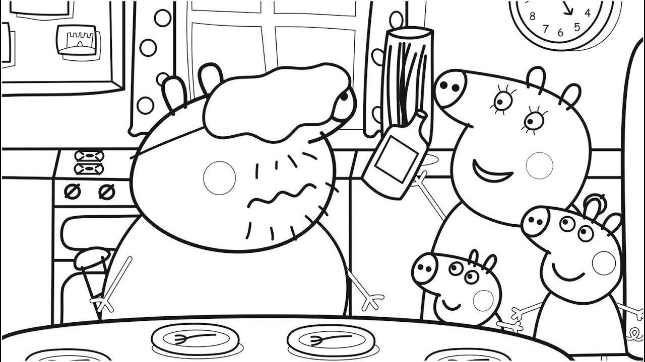 Pig Coloring Page Food Coloring Pages With Daddy Pig Peppa Pig Coloring Book Pages Davemelillo Com Peppa Pig Coloring Pages Peppa Pig Colouring Christmas Coloring Pages