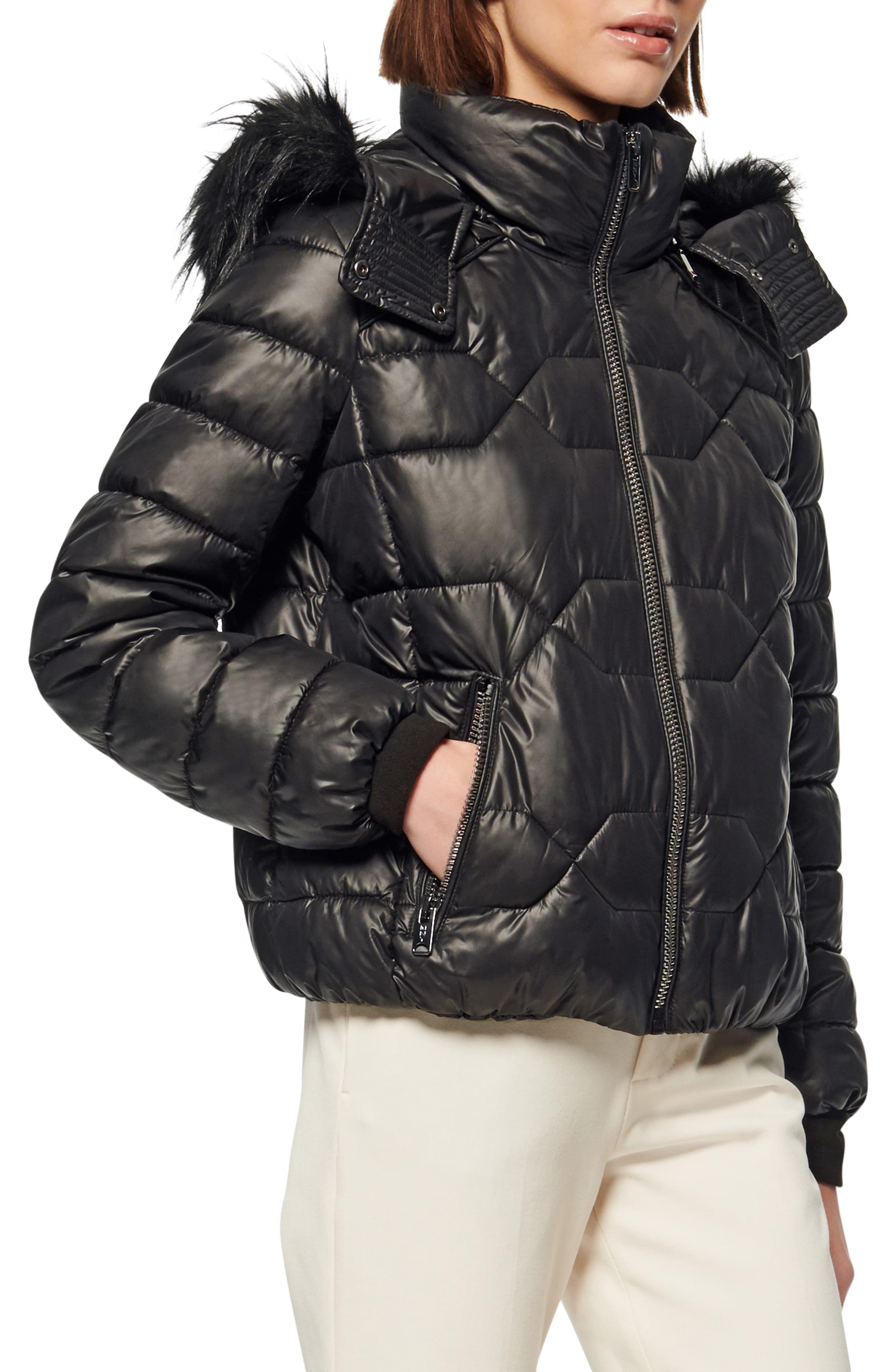 Marc New York Faux Fur Trim Down Feather Puffer Jacket Marc New York Faux Fur Hood Trim Women S Puffer [ 4048 x 2640 Pixel ]