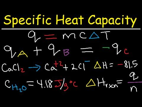 Specific Heat Capacity Problems Calculations Chemistry