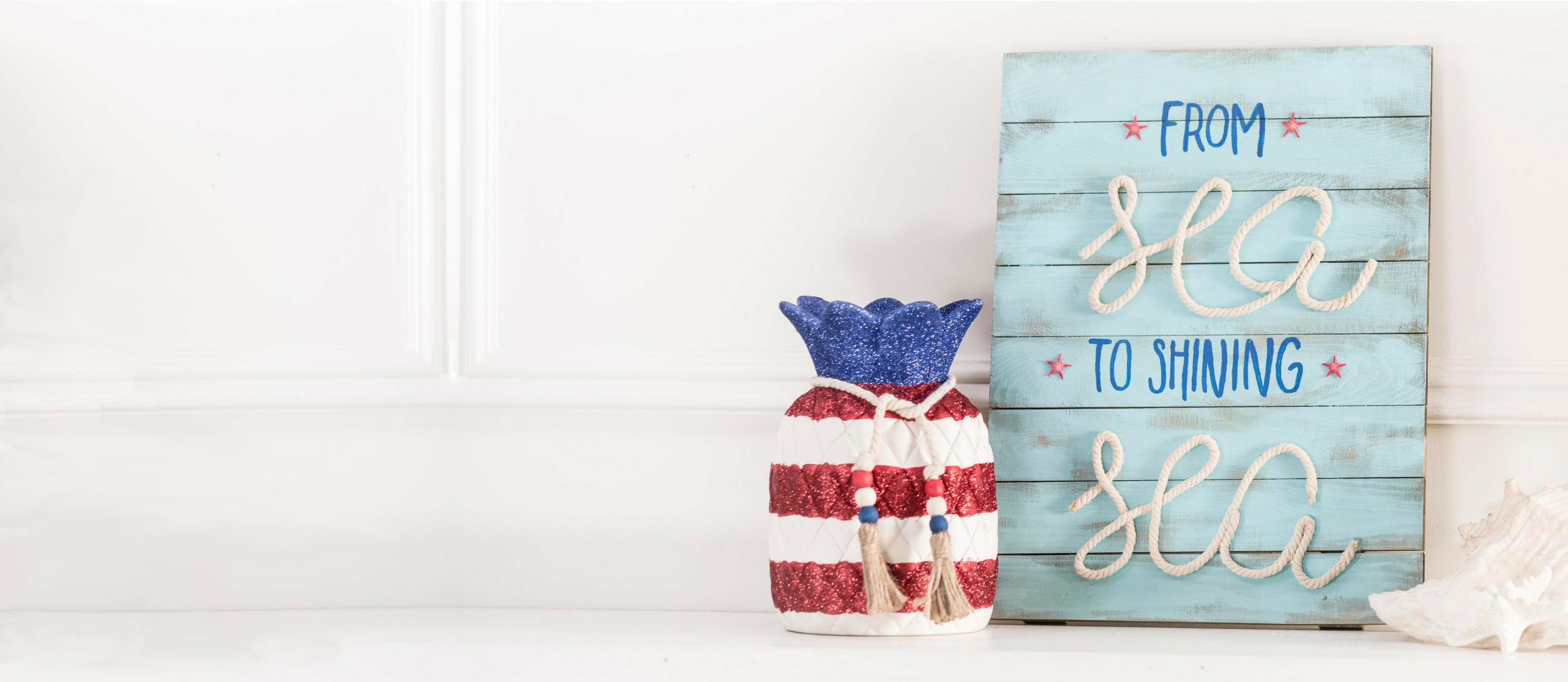 Diy Patriotic Nautical Sign
