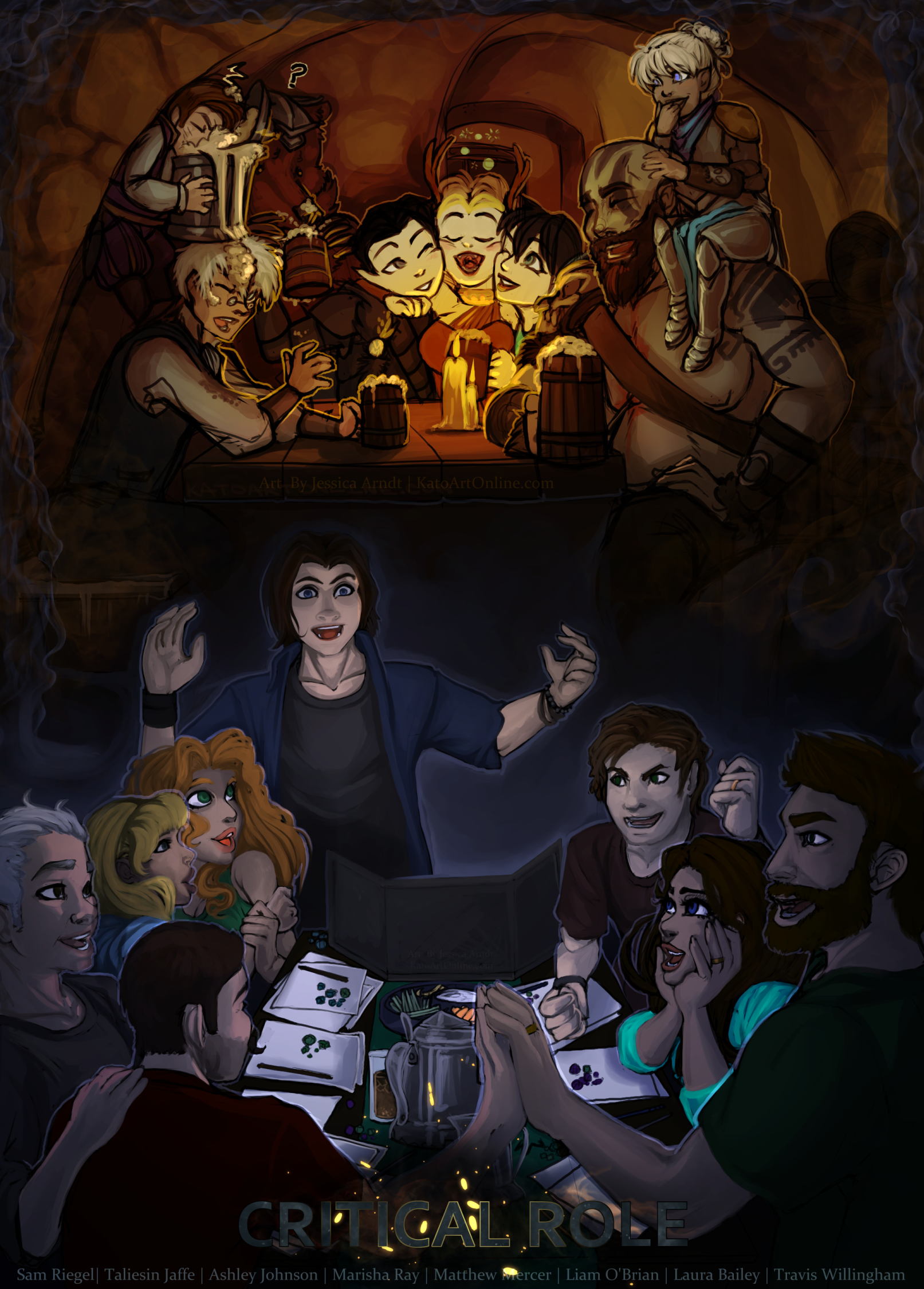 Critical Role 50th Episode Fan Art Gallery