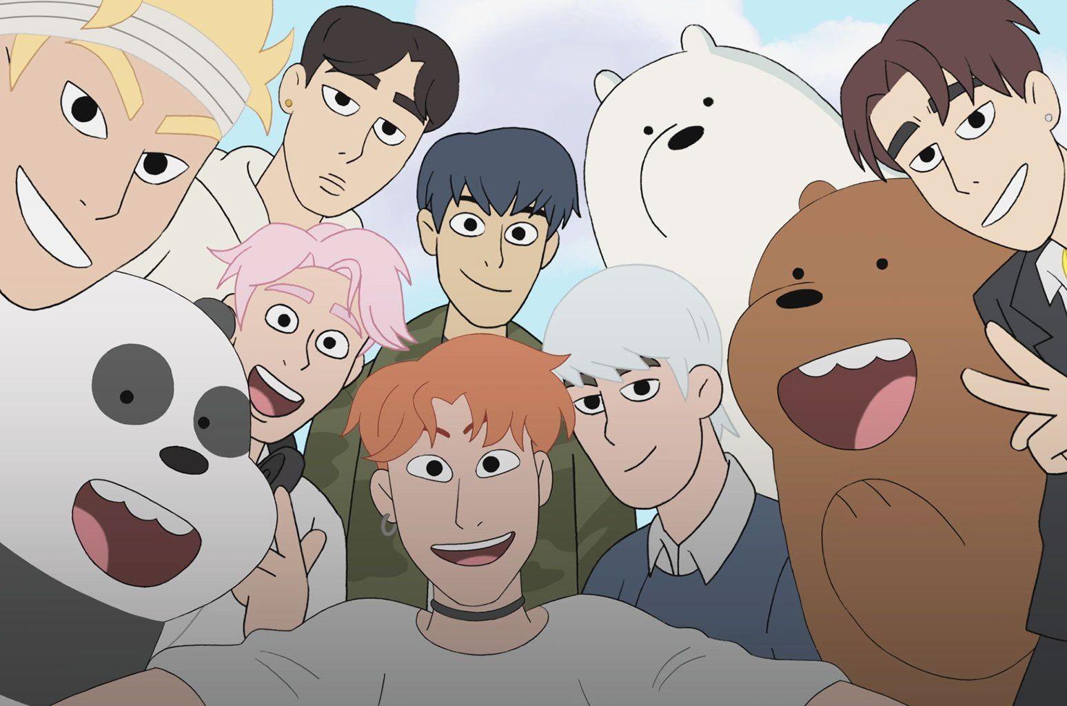 Monsta X With We Bare Bears Bear Wallpaper We Bare Bears Wallpapers We Bare Bears