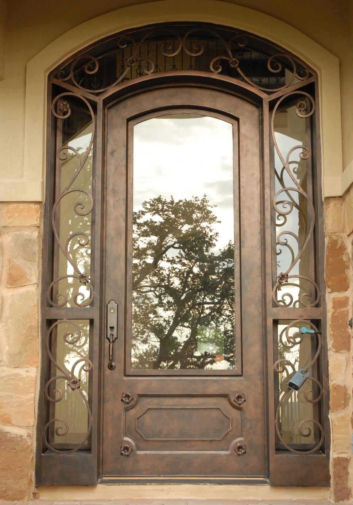 Wrought iron line durango doors suite at the houston design