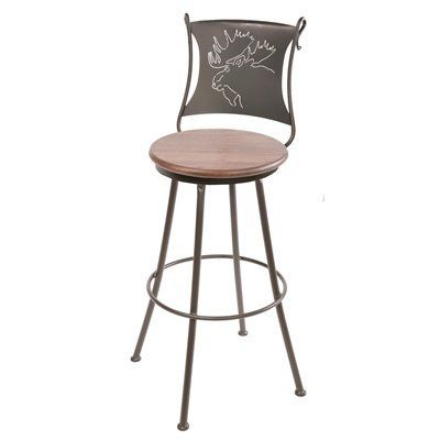 Stone County Ironworks 904-00 Bull Moose Bar Stool