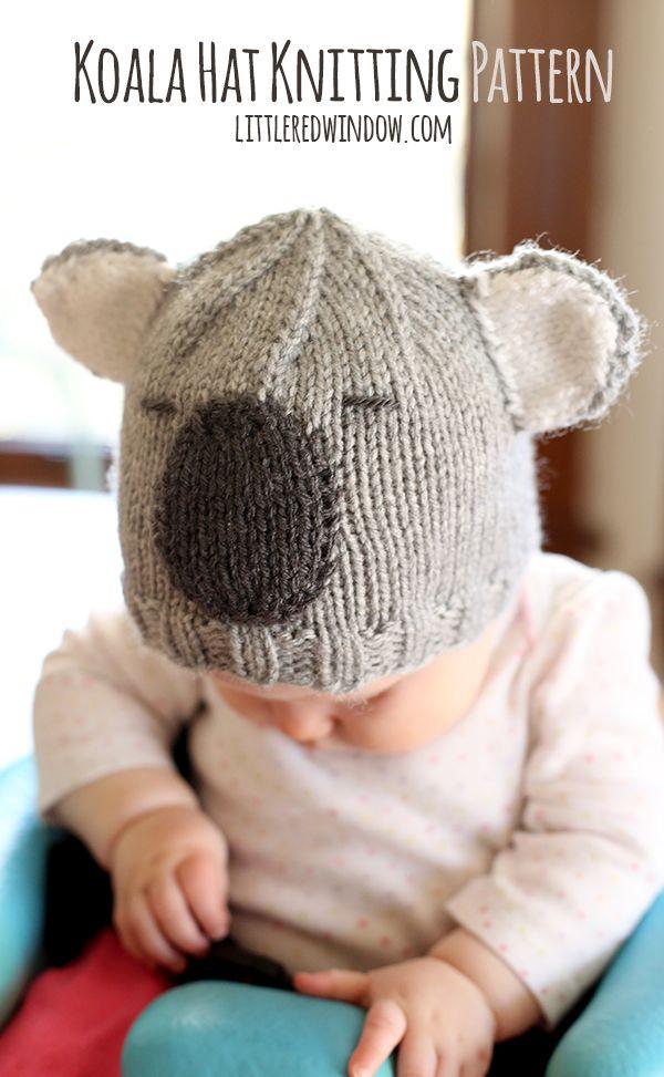 Cuddly Koala Hat Knitting Pattern   Gorros, Proyectos de tejer y ...