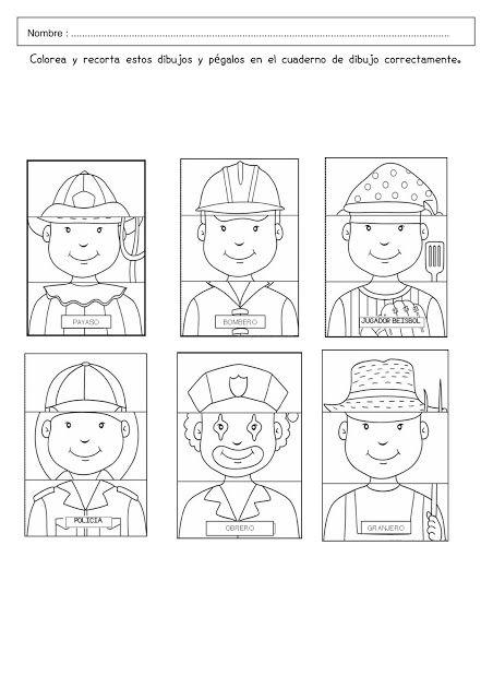 Recursos Y Actividades Para Educación Infantil Puzzles De Las Profesiones Oficios Y Profesiones Oficios Y Profeciones Actividades De Lectura Preescolar