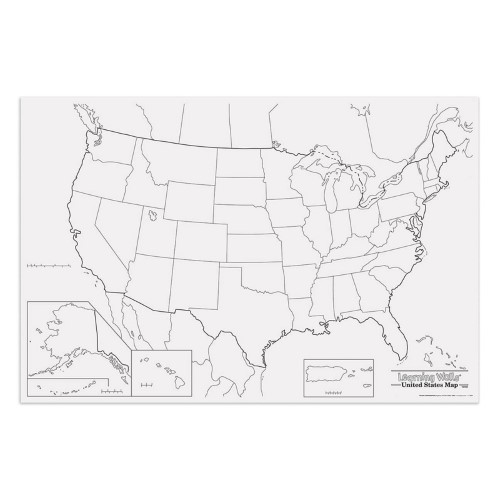 Giant Us Map 48IN X 72IN Time activities Fun learning and Social