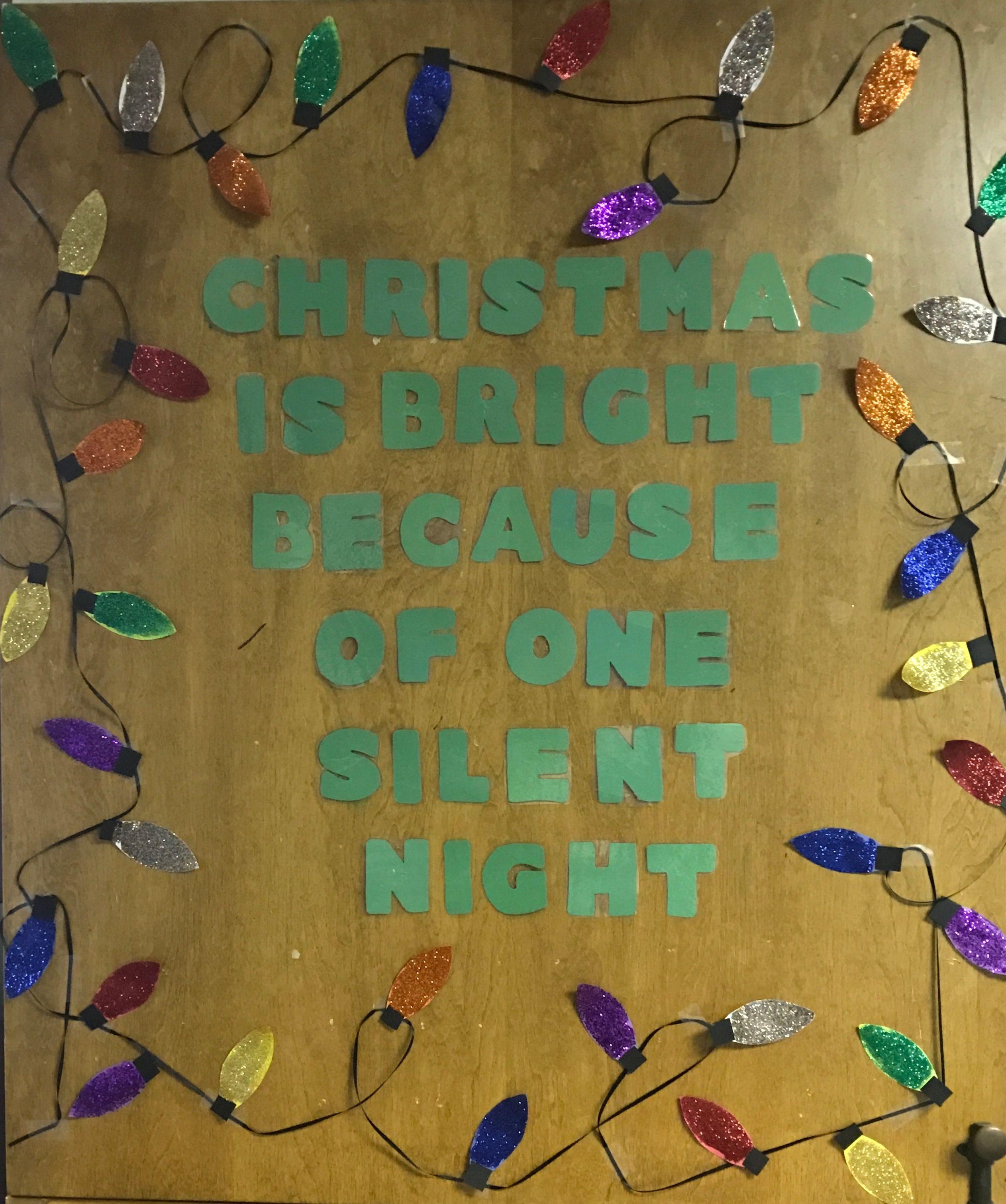 Christmas Bulletin Board/door