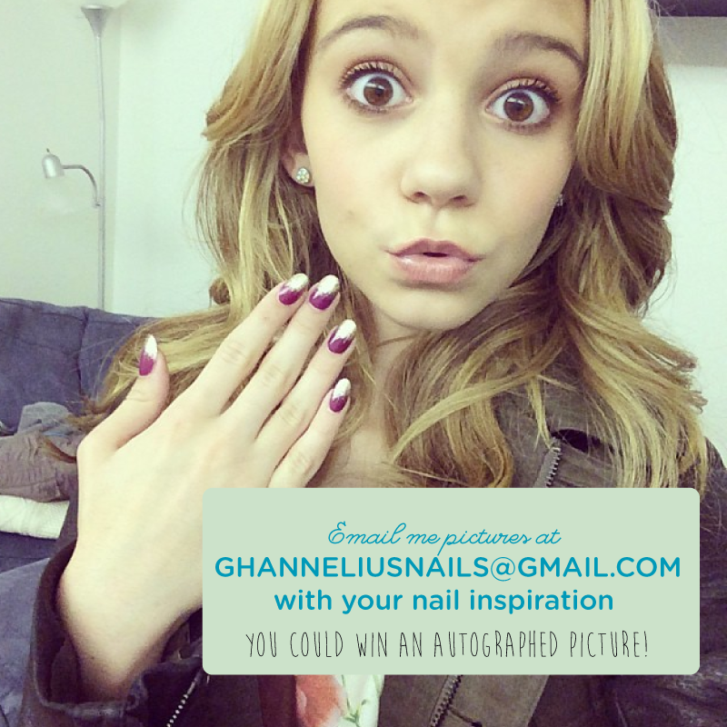 If you could put any picture on your nails, what would it be & why?   Email pictures of what you'd want to ghanneliusnails@gmail.com to be entered to win a signed photo!   #NailTalk