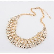 Gold Crystal Choker Necklace