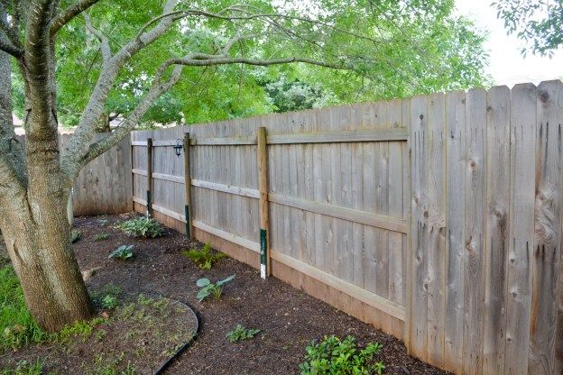 How To Fix A Leaning Fence Backyard Fences Fence Landscaping Diy Fence