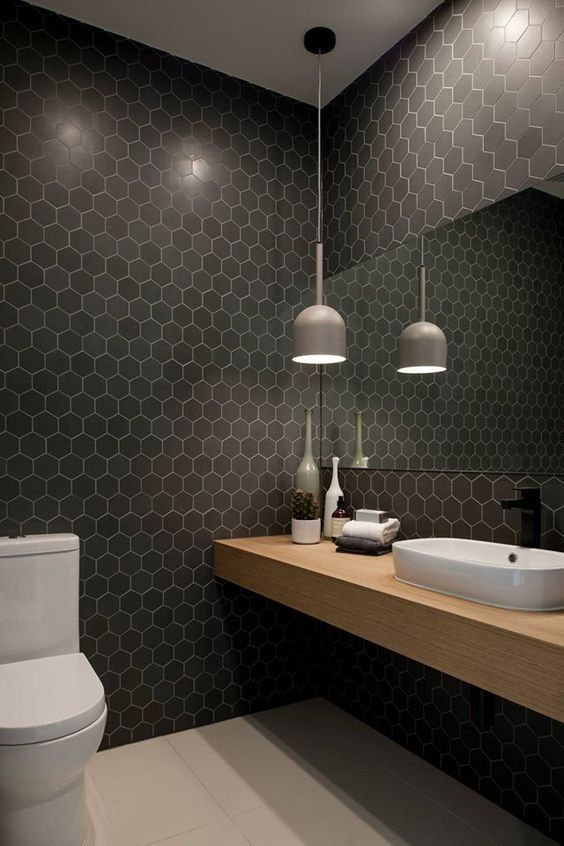Images Of Bathrooms With Black And White Tiles
