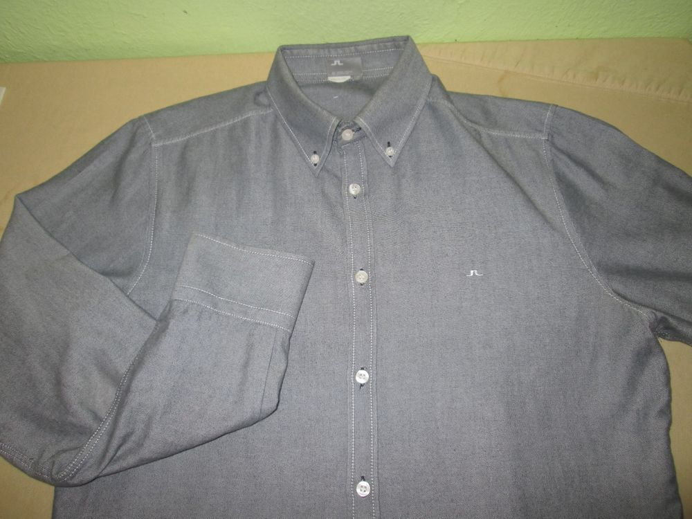 Men's J LINDEBERG  Long Sleeve Dress  Shirt Sz M Medium - Gray #JLindeberg