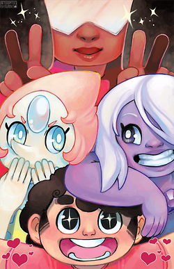 pearl but like garnet steven universe applewaffles draws Amythest it needs more sparkles it's going to be a print