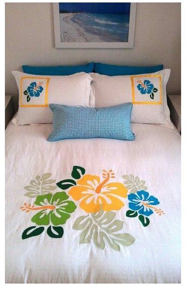 fabric painting ideas pillows cushions