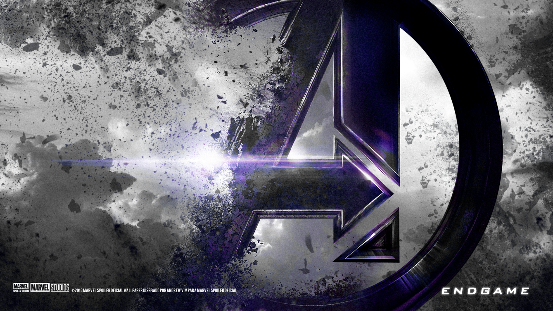 Avengers Endgame 1920x1080 Custom Colour Accent Black Purple Marvel Wallpaper Avengers Wallpaper Iron Man Hd Wallpaper