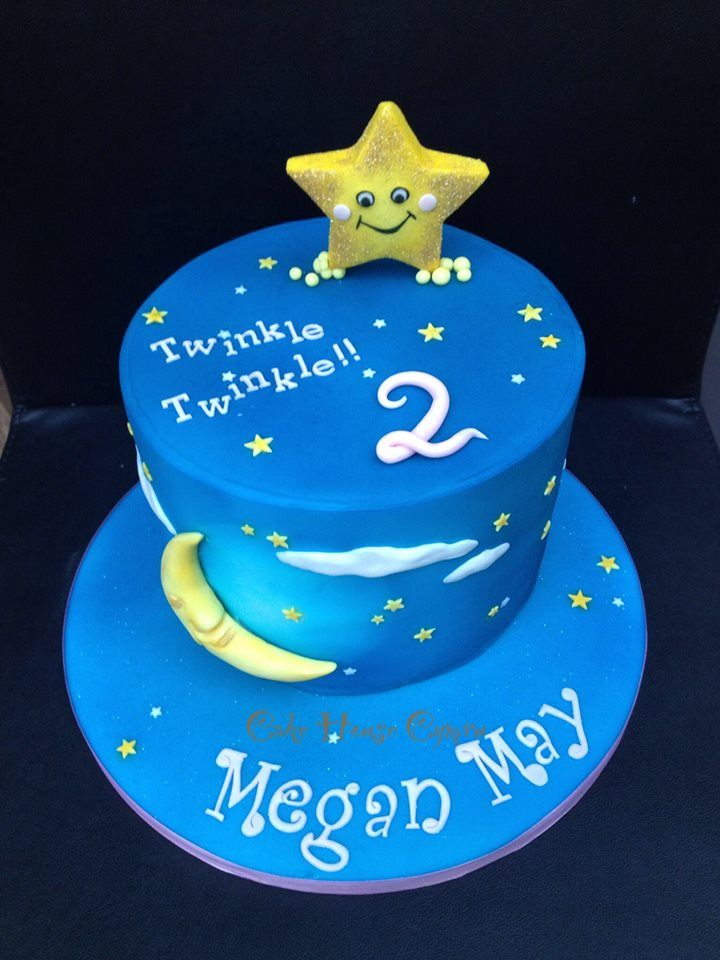 Twinkle Twinkle Little Star 2nd Birthday Cake With Images