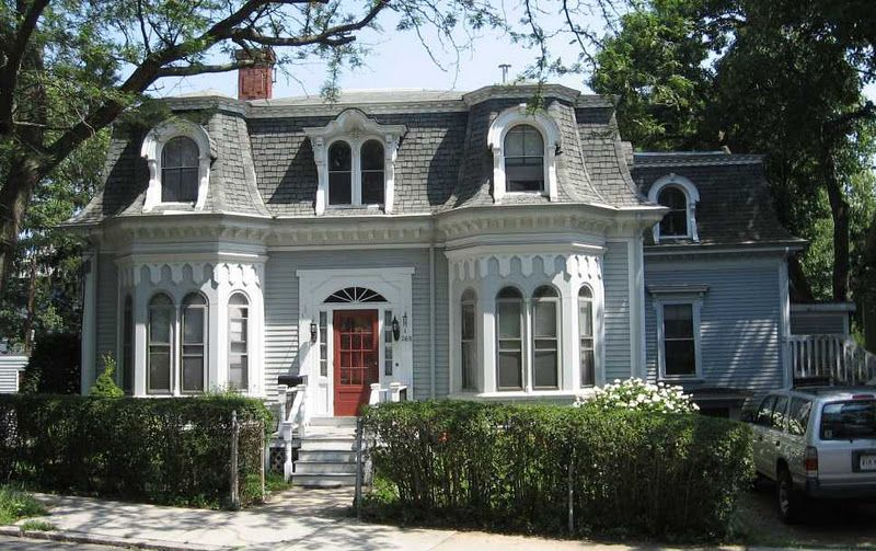 Second empire mansard roof on a one story house second for Mansard style homes