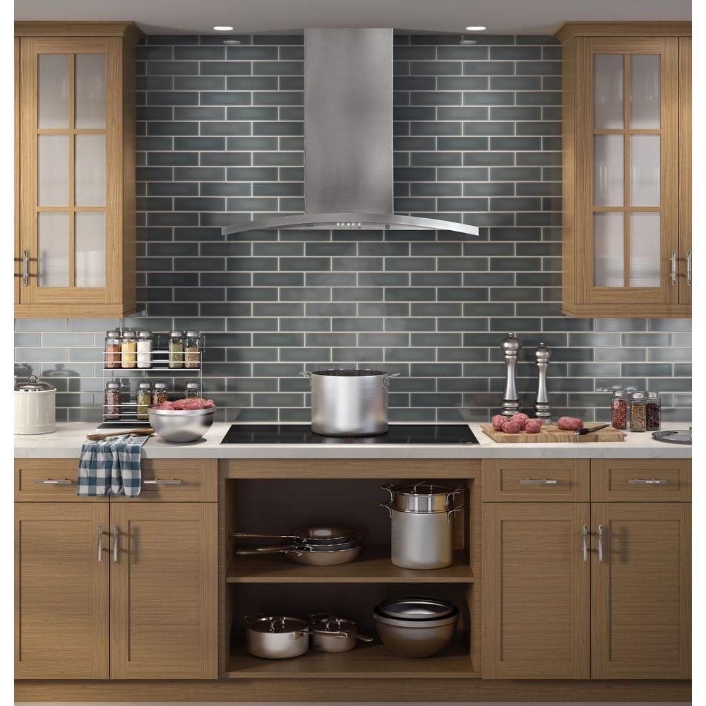 Ge Profile 36 In Designer Range Hood In Stainless Steel Pv976nss The Home Depot Replacing Kitchen Countertops Modern Kitchen Modern Kitchen Design