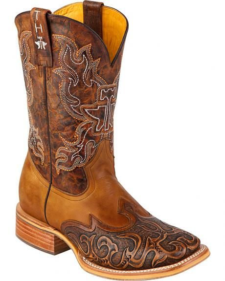 bd3e7d07036 Tin Haul Smokin' Hot Rod Cowboy Boots - Square Toe in 2019 | These ...