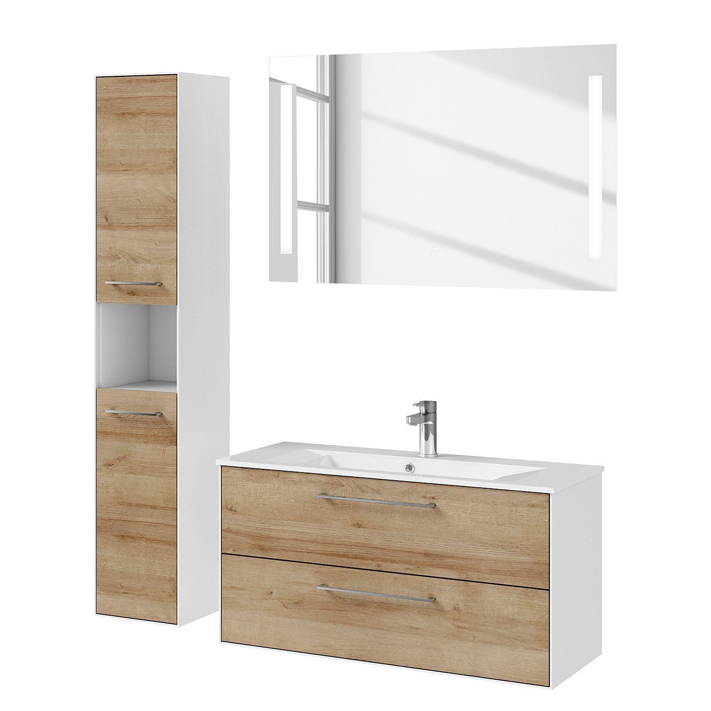 Badezimmerset Fokus 3065 Vi 3 Teilig Waschtisch Set Waschbeckenunterschrank Unterschrank