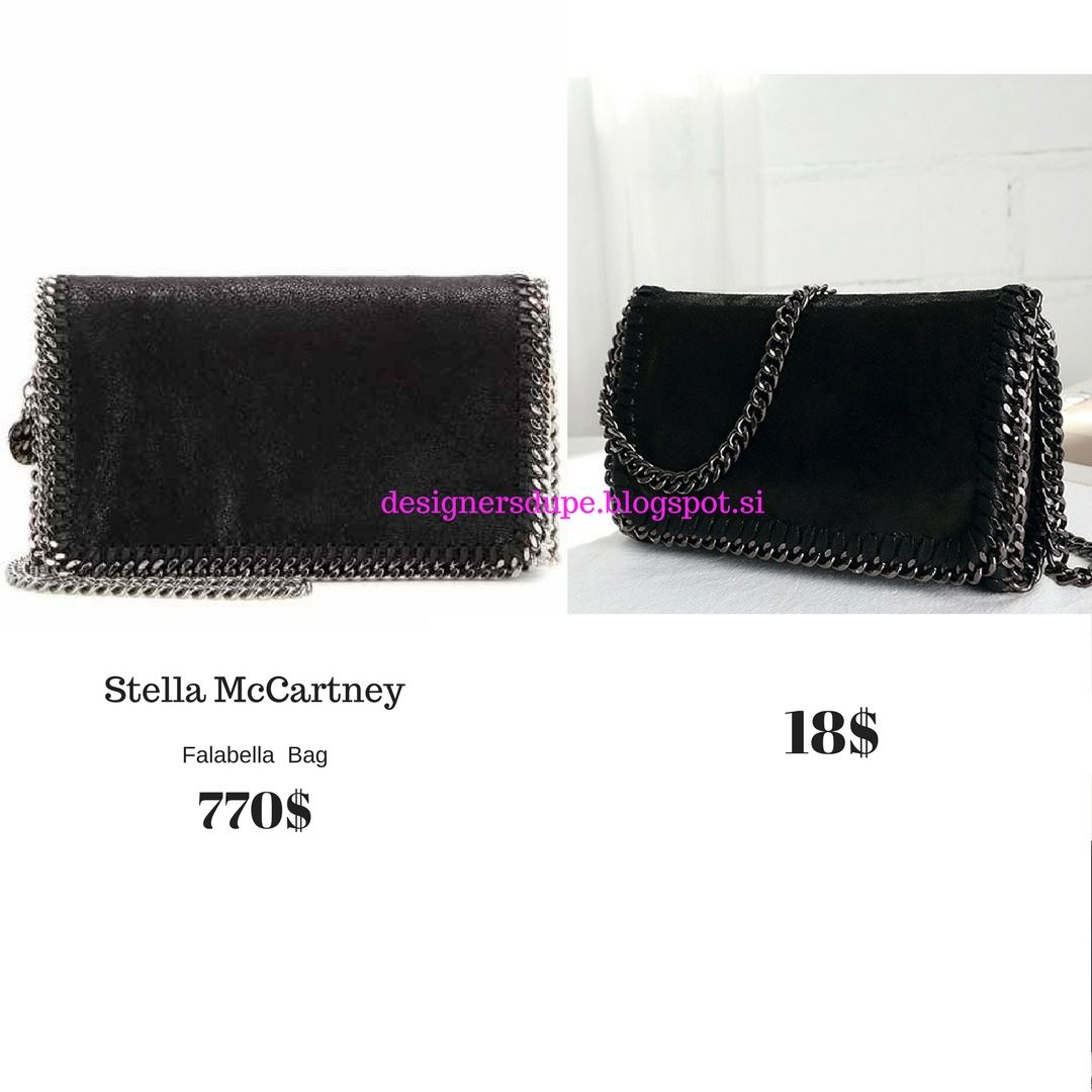 DESIGNERS DUPE designersdupe.blogspot.si Stella Mccartney Falabella Black  Chain Small Clutch Cross Body Bag Cheap Affordable  fashiondupes  fashion  ... e650b9c4f770a