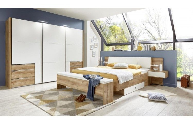 Bettanlage Coimbra Plankeneiche Nb Weiss 180 Cm Bei Poco De Haus Poco Schlafzimmer Schlafzimmer