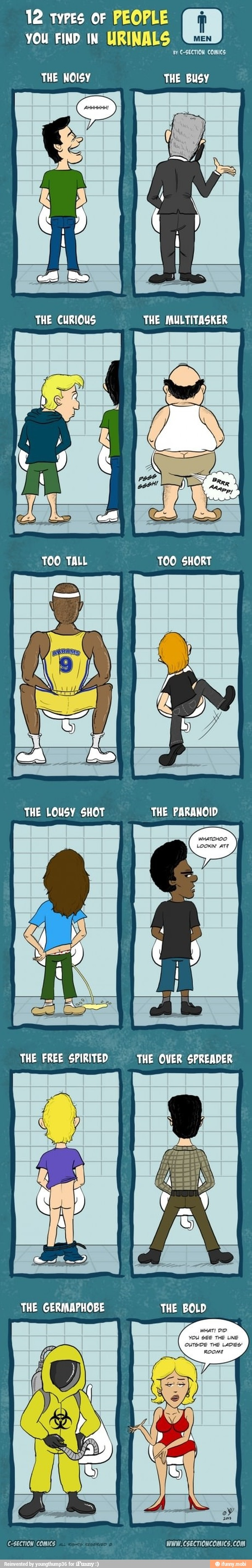 Types of people you find in urinals / iFunny :)