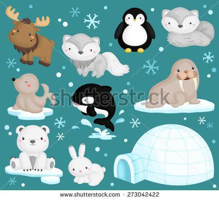 Animals Stock Vectors Vector Clip Art Cute Animal Clipart Artic Animals Animal Clipart