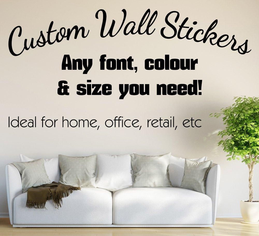 f1ecc873f9 This personalised wall sticker is custom made to your needs, you can choose  from our 10 pre-selected fonts or request a completely different font if  you ...