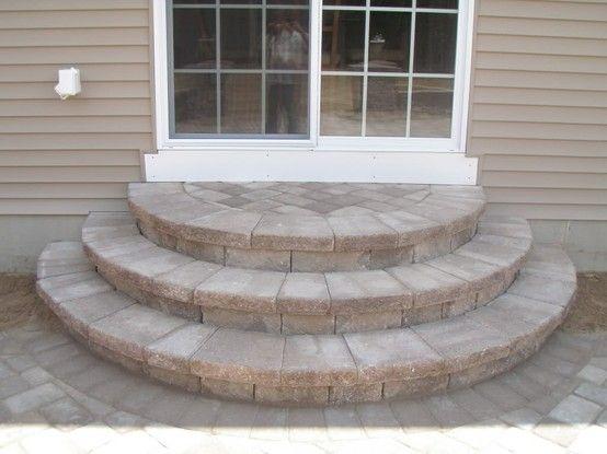 Techo Bloc Wedding Cake Style Step Backyard Decor Garden Steps Porch Steps